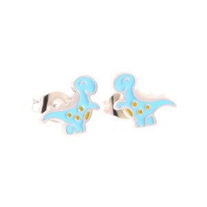 Blue Dinosaur Stud Hypoallergenic Earrings