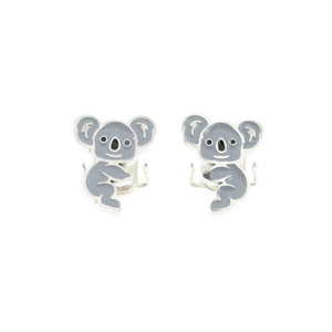 Grey Koala Stud Hypoallergenic Earrings