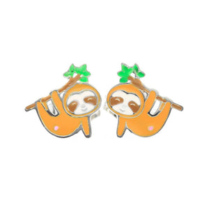 Sloth Stud Hypoallergenic Earrings