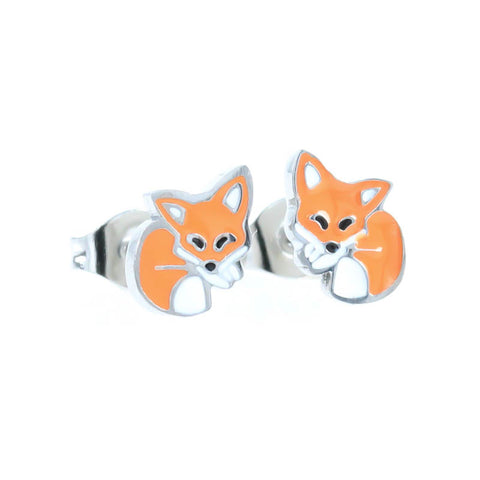 Fox Stud Hypoallergenic Earrings