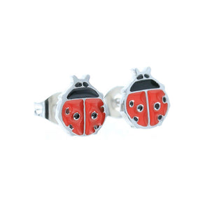 Ladybird Stud Hypoallergenic Earrings