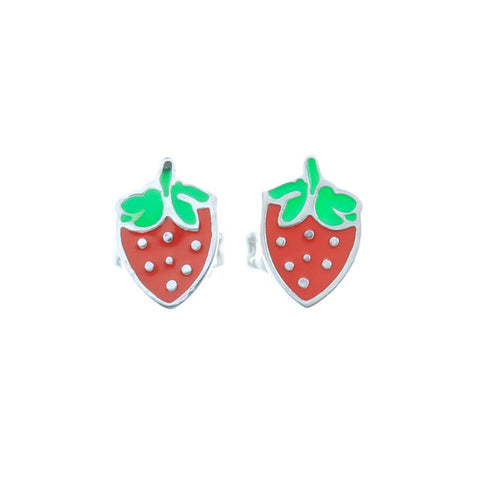 Strawberry Stud Hypoallergenic Earrings