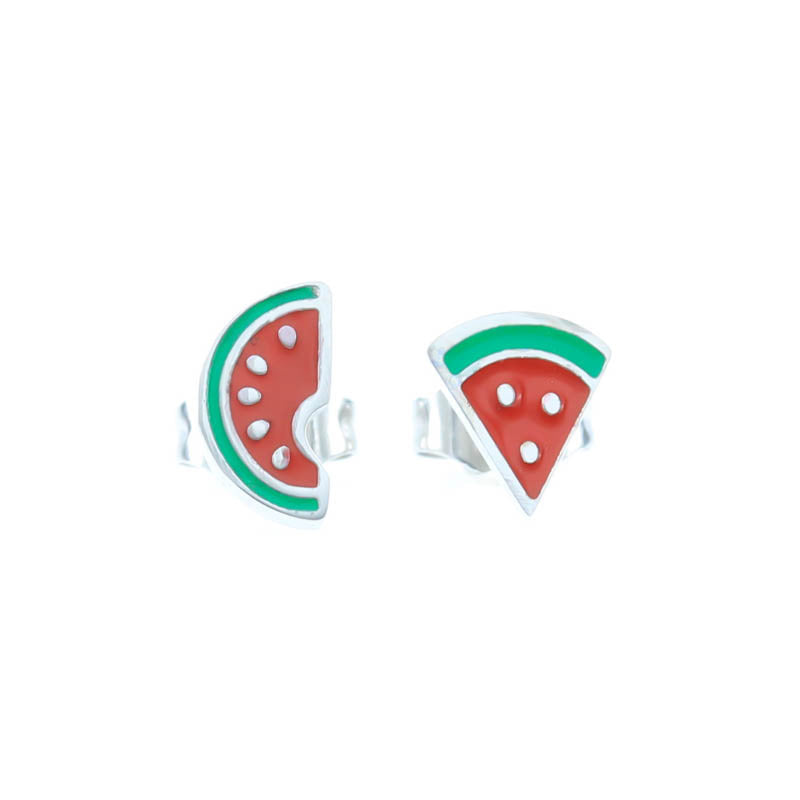 Watermelon Stud Hypoallergenic Earrings