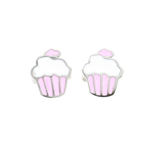 Cupcake Stud Hypoallergenic Earrings