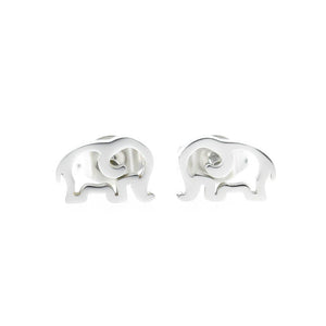 Open Elephant Stud Hypoallergenic Earrings