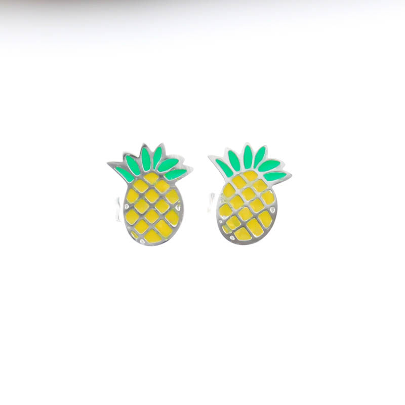 Pineapple Stud Hypoallergenic Earrings