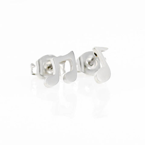 Musical Note Stud Hypoallergenic Earrings