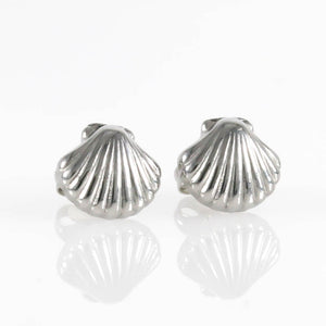 Shell Stud Hypoallergenic Earrings