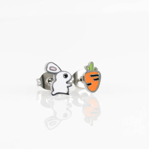 Bunny & Carrot Hypoallergenic Earrings