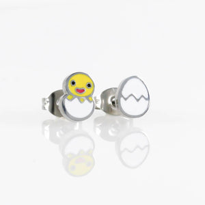 Chick Hatching Hypoallergenic Earrings