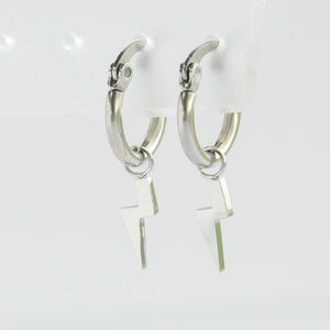 Lightning Bolt Huggie Hypoallergenic Earrings
