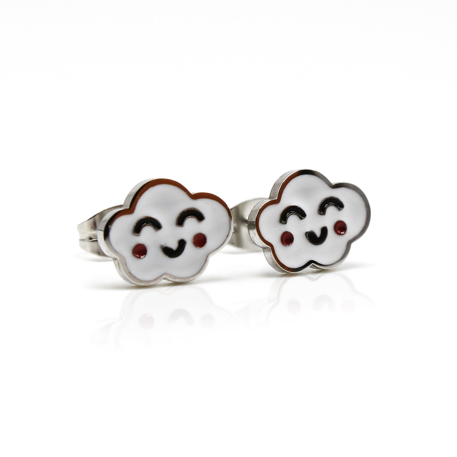 Kids Smiley Cloud Stud Earrings