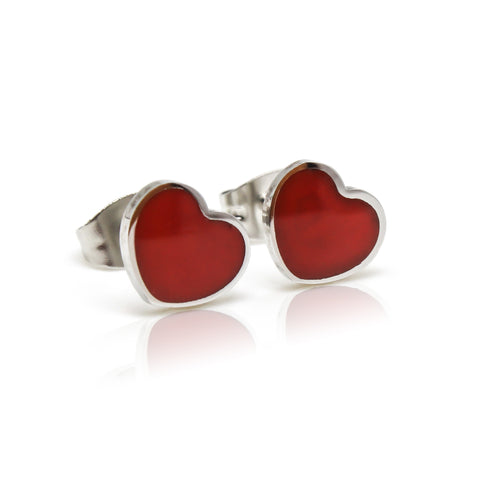 Kids Love Heart Stud Earrings