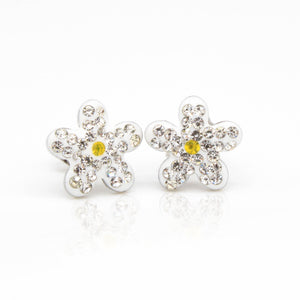 Cubic Zirconia Flower Hypoallergenic Earrings