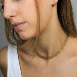 Gold Choker Hypoallergenic Necklace