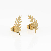 Gold Curved Wheat Hypoallergenic Earrings