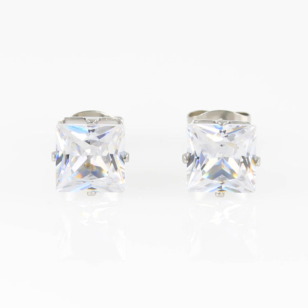 Square Cubic Zirconia Hypoallergenic Earrings