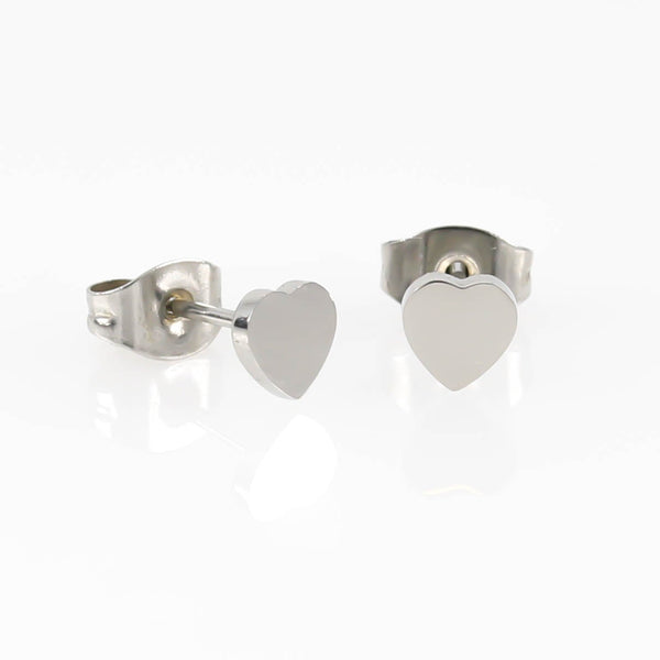 5mm Love Heart Hypoallergenic Earrings