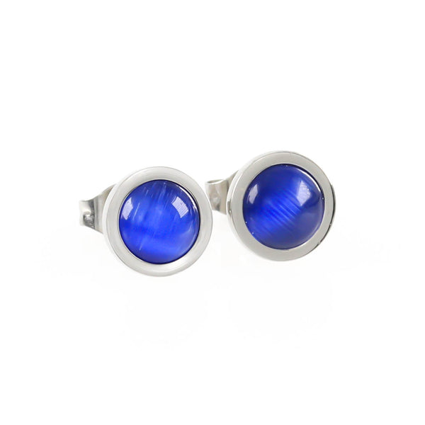 Sapphire Stone Set Hypoallergenic Earrings