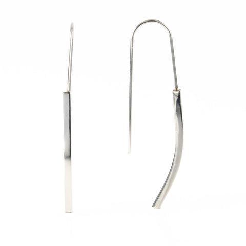 Silver Bar Drop Hypoallergenic Earrings