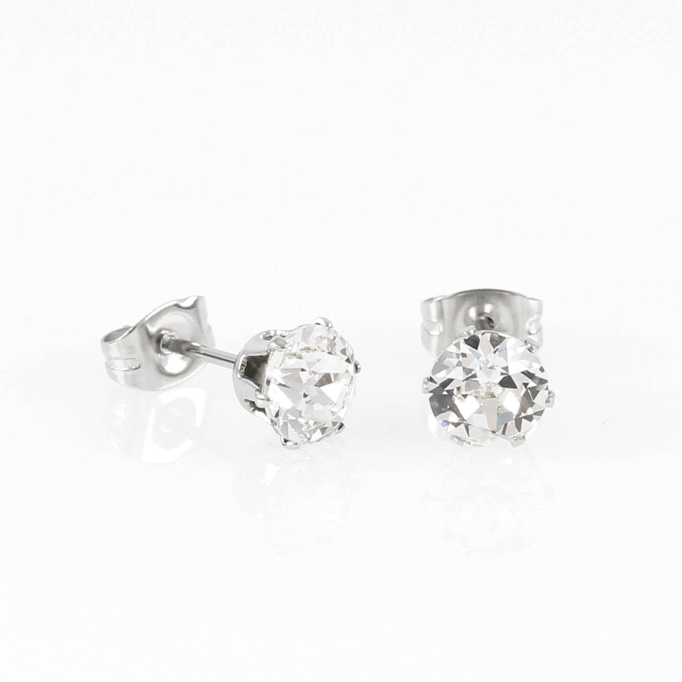 Silver Swarovski Hypoallergenic Earrings Stacking Set