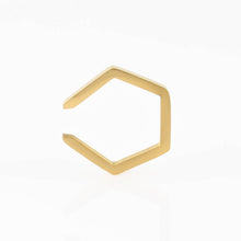 Single Hexagon Hypoallergenic Ear Cuff