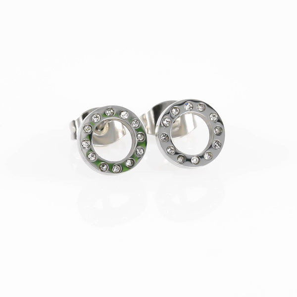 Open Circle CZ Hypoallergenic Earrings