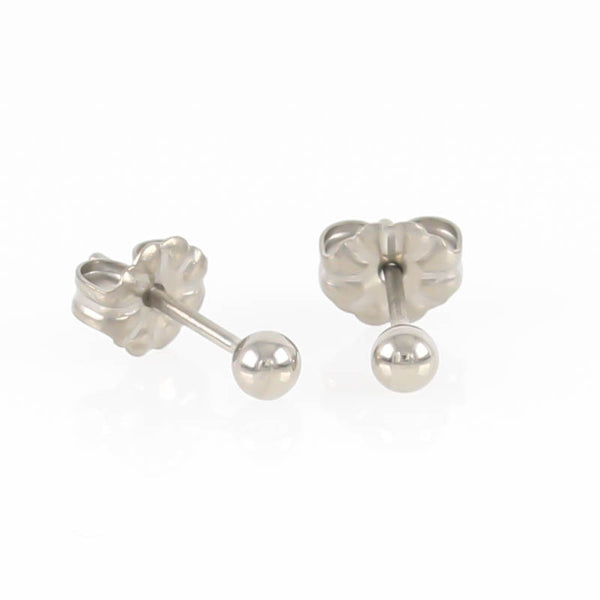 3mm Titanium Ball Stud Earrings