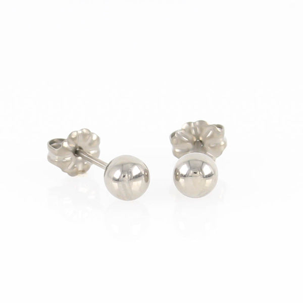 5mm Titanium Ball Stud Earrings