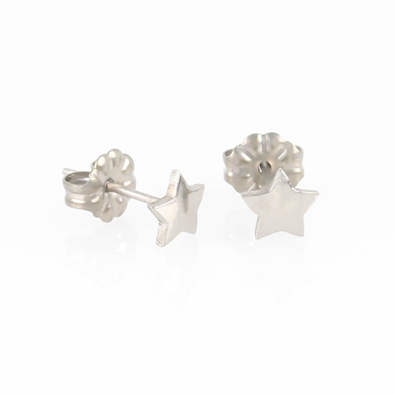 Star Titanium Stud Earrings