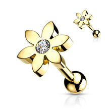 Single Flower Cartilage Hypoallergenic Stud