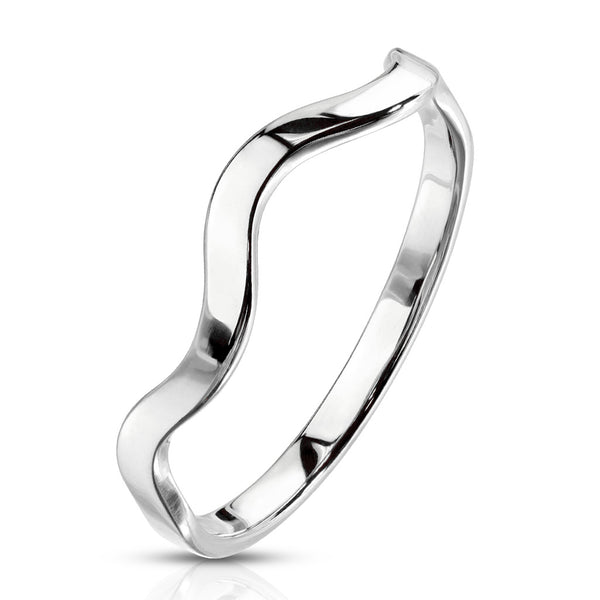 Wavy Stackable Silver Ring