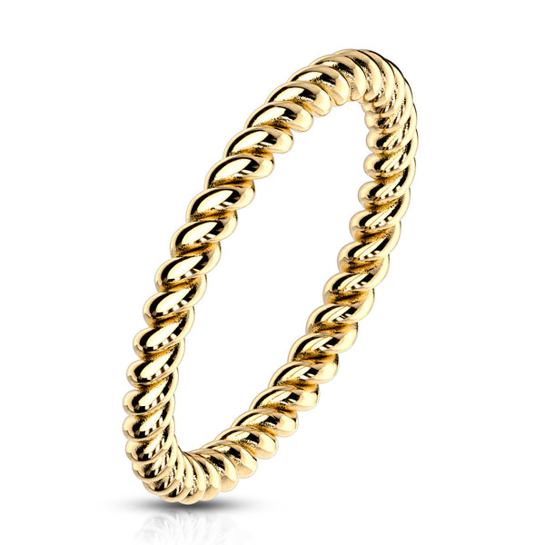 Braided Gold Stackable Ring