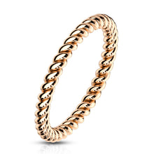 Braided Rose Gold Stackable Ring