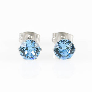 Aquamarine Swarovski Crystal Hypoallergenic Earrings