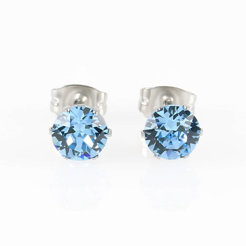 Aquamarine Swarovski Hypoallergenic Earrings