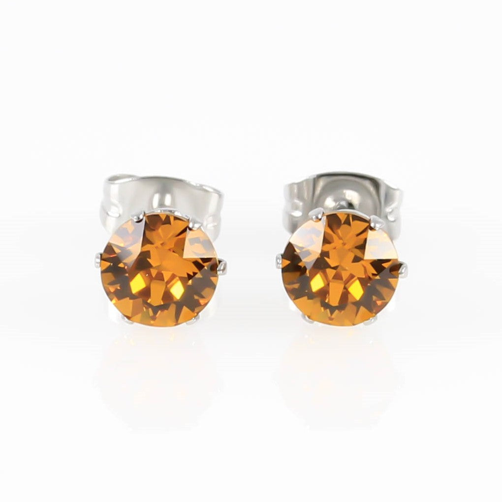 Topaz Swarovski Crystal Hypoallergenic Earrings