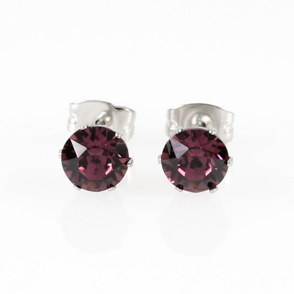 Amethyst Swarovski Hypoallergenic Earrings