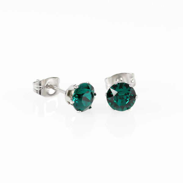 Emerald Swarovski Hypoallergenic Earrings