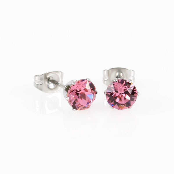 Rose Swarovski Hypoallergenic Earrings