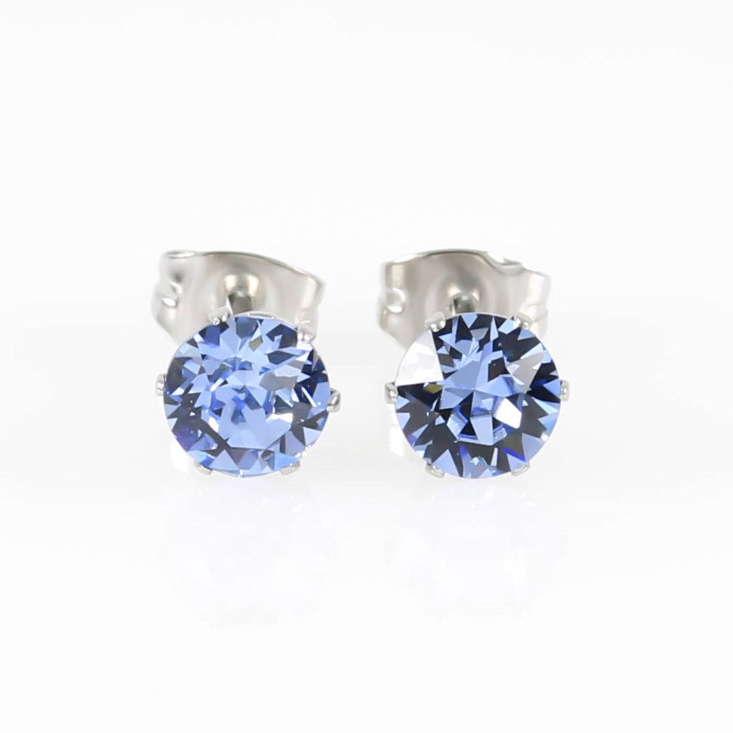 Light Sapphire Swarovski Hypoallergenic Earrings