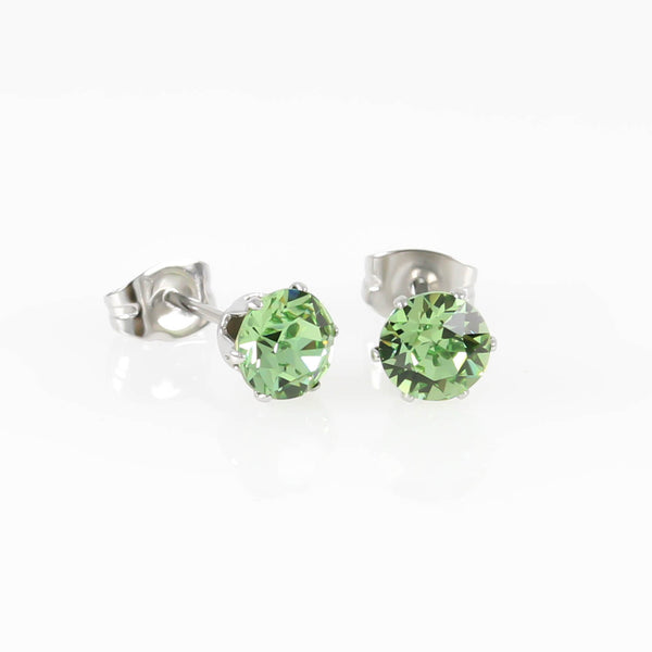 Peridot Swarovski Hypoallergenic Earrings