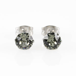 Black Diamond Swarovski Hypoallergenic Earrings
