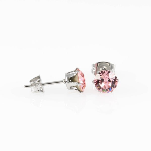 Light Rose Swarovski Hypoallergenic Earrings
