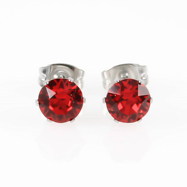 Light Siam Swarovski Hypoallergenic Earrings