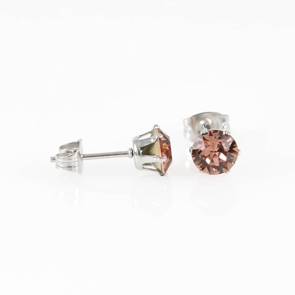 Blush Rose Swarovski Hypoallergenic Earrings