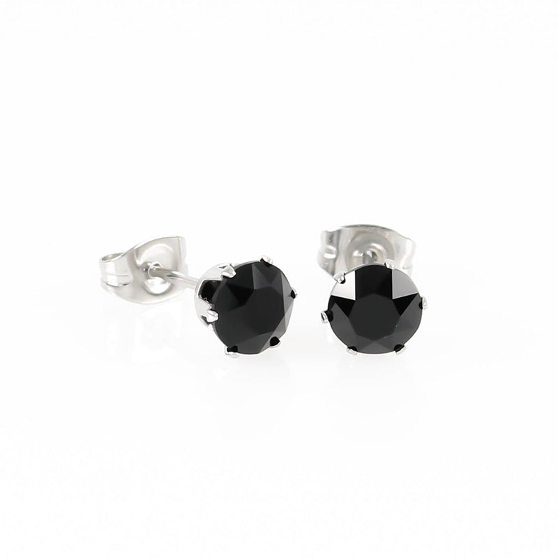 Jet Swarovski Crystal Hypoallergenic Earrings