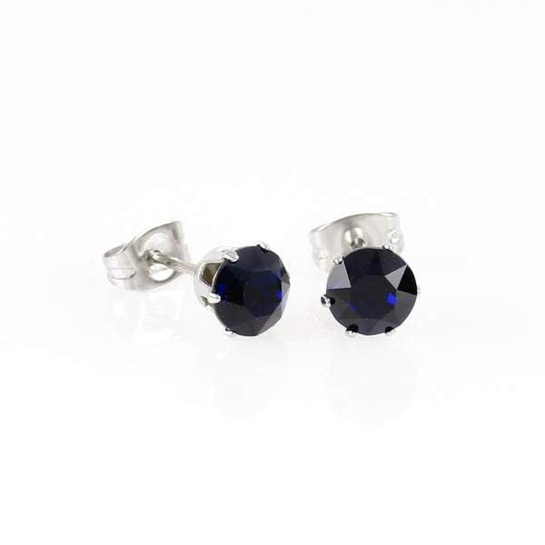 Dark Indigo Swarovski Hypoallergenic Earrings
