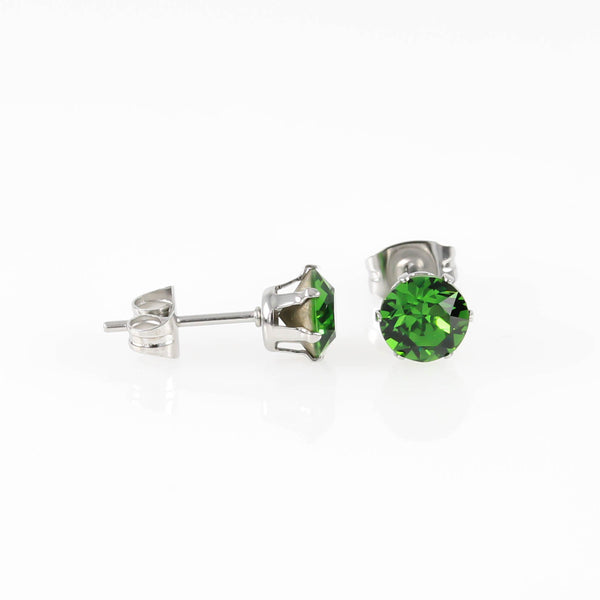 Fern Green Swarovski Hypoallergenic Earrings