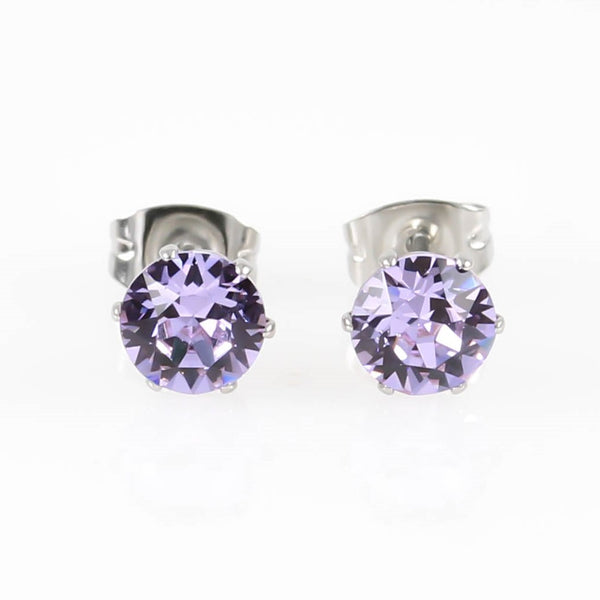 Violet Swarovski Hypoallergenic Earrings